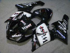 Kawasaki NINJA ZX6R 2005-2006 Carénage ABS Injection - West - noir/blanc