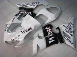 Kawasaki NINJA ZX6R 2005-2006 Carénage ABS Injection - West - blanc/noir