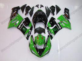 Kawasaki NINJA ZX6R 2005-2006 Carénage ABS Injection - Monster - vert/noir