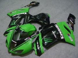 Kawasaki NINJA ZX6R 2007-2008 Carénage ABS Injection - Monster - vert/noir
