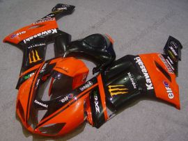 Kawasaki NINJA ZX6R 2007-2008 Carénage ABS Injection - Monster - orange/noir