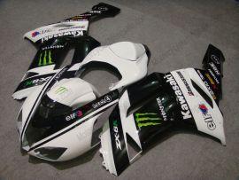 Kawasaki NINJA ZX6R 2007-2008 Carénage ABS Injection - Monster - blanc/noir