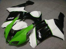Kawasaki NINJA ZX6R 2007-2008 Carénage ABS Injection - autres - vert/noir/blanc