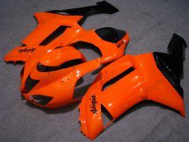 Kawasaki NINJA ZX6R 2007-2008 Carénage ABS Injection - autres - orange/noir