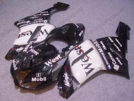 Kawasaki NINJA ZX6R 2007-2008 Carénage ABS Injection - West - noir/blanc