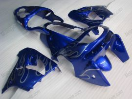 Kawasaki NINJA ZX9R 1998-1999 Carénage ABS - Flame argent - bleu