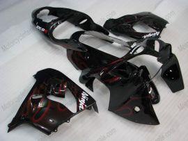 Kawasaki NINJA ZX9R 2000-2001 Carénage ABS - Flame rouge - noir