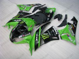 Kawasaki NINJA ZX6R 2009-2012 Carénage ABS Injection - Monster - vert/noir