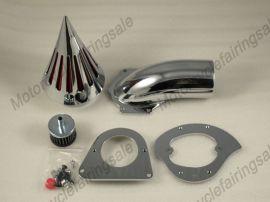Kawasaki moto neuve vulcan 800 pic filtre à air kit filtre d'aspiration - chrome