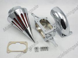 honda vtx moto 1800 pointe kit filtre à air de filtre d'aspiration 2002-2009 de chrome