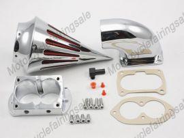 Kawasaki moto 1500/1600 carburant volcan kit de filtre à air - 2002-2009 - chrome