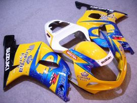 Suzuki GSX-R 1000 2000-2002 K1 K2 Carénage ABS Injection - Corona - jaune/bleu