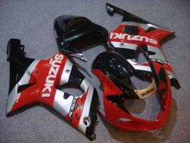 Suzuki GSX-R 1000 2000-2002 K1 K2 Carénage ABS Injection - autres - rouge/argent/noir
