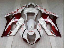 Suzuki GSX-R 1000 2003-2004 K3 Carénage ABS Injection - Jordan - blanc/rouge