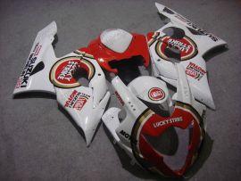 Suzuki GSX-R 1000 2005-2006 K5 Carénage ABS Injection - Lucky Strike - blanc/rouge