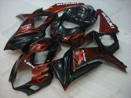 Suzuki GSX-R 1000 2007-2008 K7 Carénage ABS Injection - Flame orange - noir