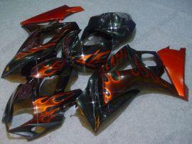 Suzuki GSX-R 1000 2007-2008 K7 Carénage ABS Injection - Flame orange - noir(sans logo Suzuki)