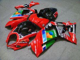 Suzuki GSX-R 1000 2007-2008 K7 Carénage ABS Injection - JOMO - rouge/noir/vert