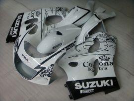 Suzuki GSX-R 600/750 1997-1999 Carénage ABS - Corona - blanc/noir