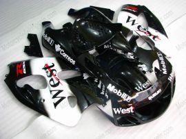 Suzuki GSX-R 600/750 1997-1999 Carénage ABS - West - noir/blanc