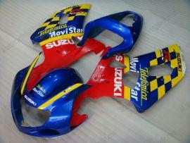 Suzuki GSX-R 600/750 2001-2003 K1 K2 Carénage ABS Injection - Movistar - bleu/jaune/rouge
