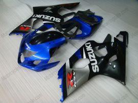 Suzuki GSX-R 600/750 2004-2005 K4 Carénage ABS Injection - autres - gris/corps noir avec headlight bleu