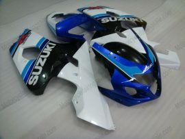 Suzuki GSX-R 600/750 2004-2005 K4 Carénage ABS Injection - autres - blanc/corps noir avec headlight bleu