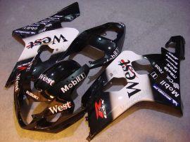 Suzuki GSX-R 600/750 2004-2005 K4 Carénage ABS Injection - West - noir/blanc