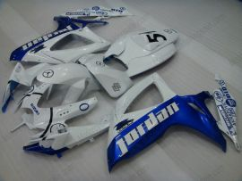 Suzuki GSX-R 600/750 2006-2007 K6 Carénage ABS Injection - Jordan - blanc/bleu