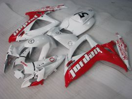 Suzuki GSX-R 600/750 2006-2007 K6 Carénage ABS Injection - Jordan - blanc/rouge