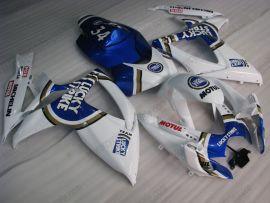 Suzuki GSX-R 600/750 2006-2007 K6 Carénage ABS Injection - Lucky Strike - blanc/bleu