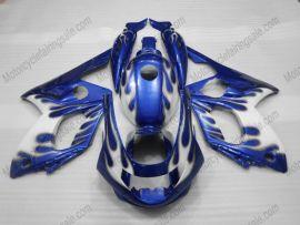 Yamaha YZF-600R 1994-2007 Carénage ABS - Flame bleu- blanc