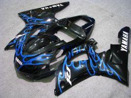 Yamaha YZF-R1 1998-1999 Carénage ABS Injection - Flame bleu - noir