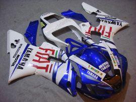 Yamaha YZF-R1 1998-1999 Carénage ABS Injection - FIAT - blanc/bleu