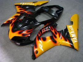 Yamaha YZF-R1 1998-1999 Carénage ABS Injection - Flame orange - noir/orange