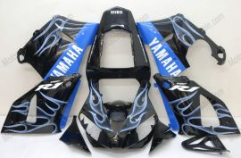 Yamaha YZF-R1 2000-2001 Carénage ABS Injection - Flame bleu clair - noir