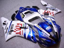 Yamaha YZF-R1 2000-2001 Carénage ABS Injection - FIAT - blanc/bleu