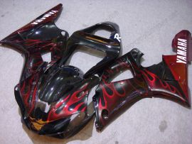 Yamaha YZF-R1 2000-2001 Carénage ABS Injection - Flame - noir/rouge
