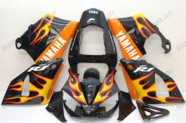 Yamaha YZF-R1 2000-2001 Carénage ABS Injection - Flame orange - doré/noir
