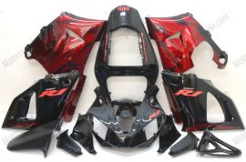 Yamaha YZF-R1 2000-2001 Carénage ABS Injection - Flame rouge - noir