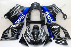 Yamaha YZF-R1 2000-2001 Carénage ABS Injection - Flame blanc - noir
