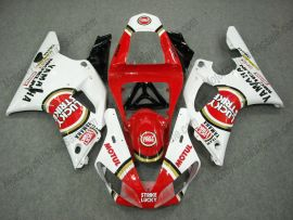 Yamaha YZF-R1 2000-2001 Carénage ABS Injection - Lucky Strike - rouge/blanc