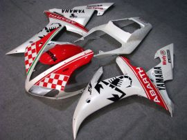 Yamaha YZF-R1 2002-2003 Carénage ABS Injection - ABARTH - blanc/rouge