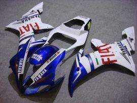 Yamaha YZF-R1 2002-2003 Carénage ABS Injection - FIAT - blanc/bleu