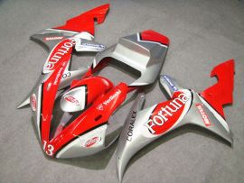 Yamaha YZF-R1 2002-2003 Carénage ABS Injection - Fortuna - rouge/argent