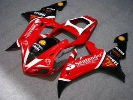 Yamaha YZF-R1 2002-2003 Carénage ABS Injection - Santander - rouge/noir