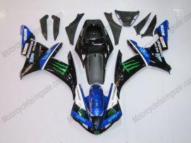Yamaha YZF-R1 2002-2003 Carénage ABS Injection - Monster - noir/bleu