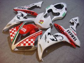 Yamaha YZF-R1 2004-2006 Carénage ABS Injection - ABARTH - blanc/rouge