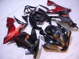 Yamaha YZF-R1 2004-2006 Carénage ABS Injection - Flame noir - noir/rouge