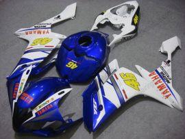 Yamaha YZF-R1 2007-2008 Carénage ABS Injection - FIAT - bleu/blanc